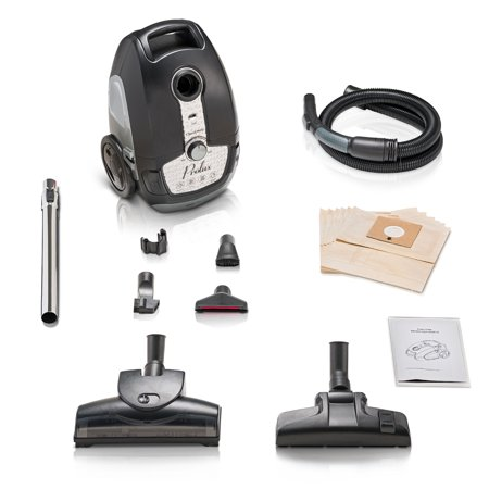 Tritan Bagged Canister Vacuum HEPA Sealed Hard Floor Vacuum with Powerful 12 Amp Motor 12 Amp Canister Vacuum Cleaner