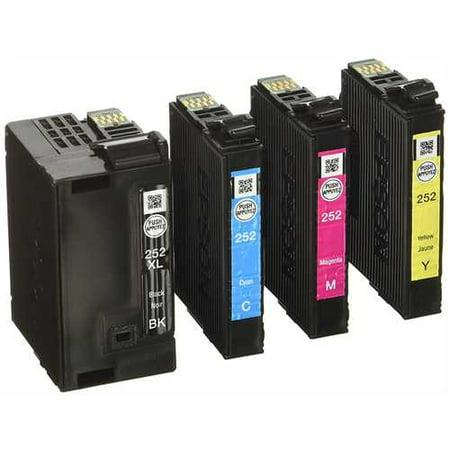 Epson 252XL Black, 252 C/M/Y Combo 4pk Ink Cartridges - Black, Cyan, Magenta, Yellow (T252XL-BCS-CP)