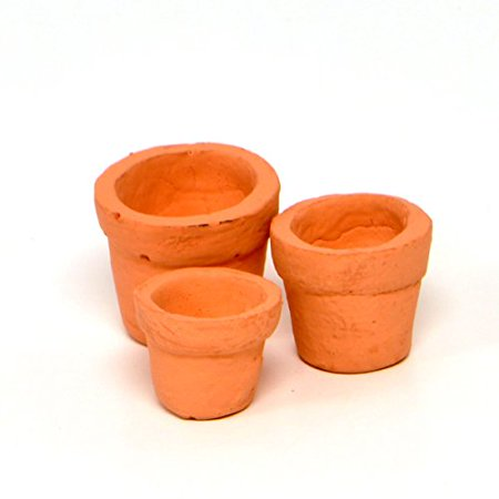 (Miniature Fairy Garden Tiny Pots, Set of 3)