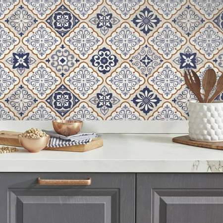Mexican Tiles Peel and Stick Giant Wall Decals ()