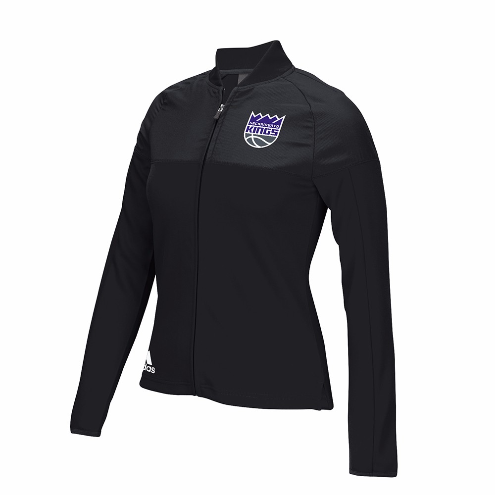 Sacramento Kings NBA Adidas Black 2016 On-Court Long Sleeve Track Jacket For Women by Adidas
