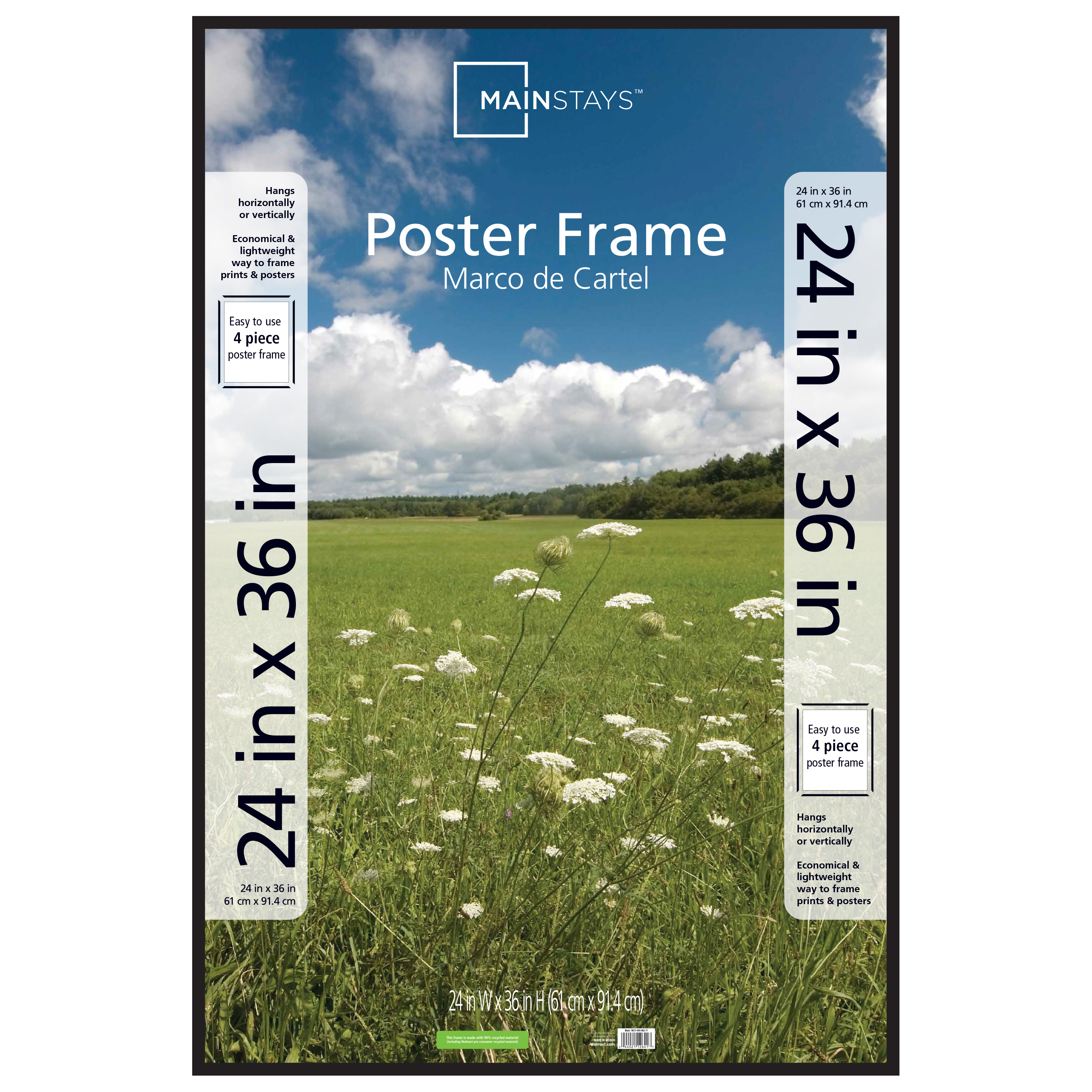 Mainstays 24x36 Thin Poster and Picture Frame, Black by MCS Industries, Inc.