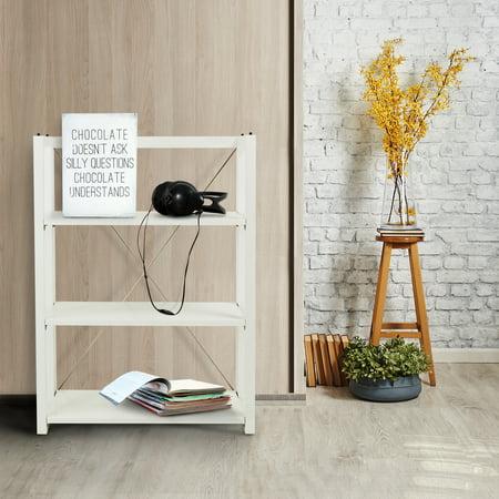 Citiscape 3 Shelf Folding Stacking Bookcase White