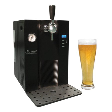 Draw Beer Dispenser 2 Kegs - Mini Keg Beer Dispenser - For Use With 5L Kegs All Black, Upgrade To Include Regulator