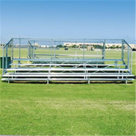 4 or 5 Row Aluminum Bleachers with Fencing