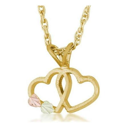 Landstroms G L03101 Black Hills Gold Double Heart Pendant (Black Hills Gold Heart Locket)