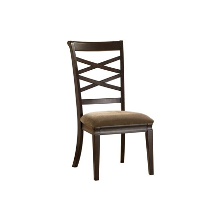 Ashley Hayley Dark Brown Dining Upholstered Side Chair Set of 2 ...