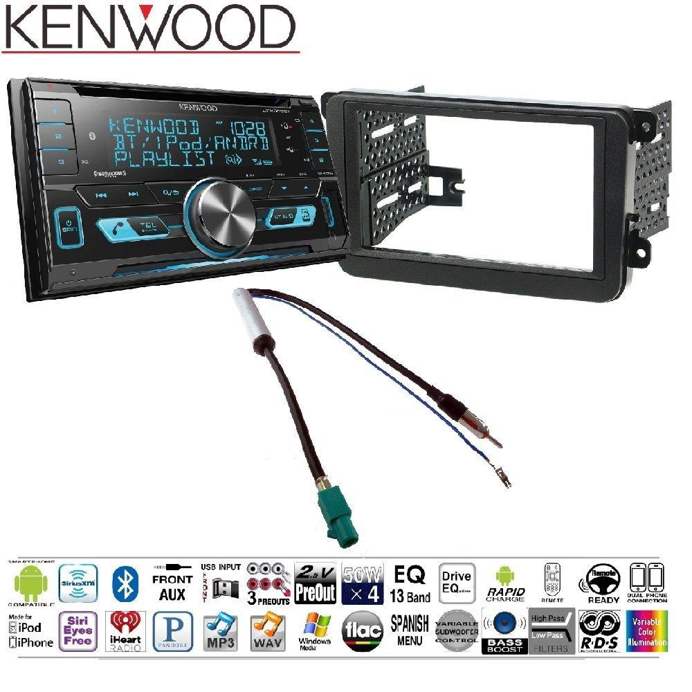 Kenwood DPX503BT Double DIN CD Bluetooth SiriusXM Car Stereo (Replaced DPX502BT) CAR RADIO STEREO CD PLAYER DASH INSTALL MOUNTING KIT HARNESS FOR VOLKSWAGEN 2005-2014