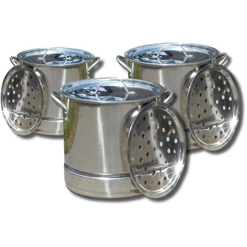 King Kooker 3-Pot Set, Stainless Steel