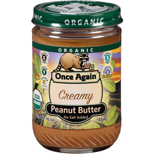 Once Again Organic Creamy Peanut Butter, 16 oz, (Pack of 6)
