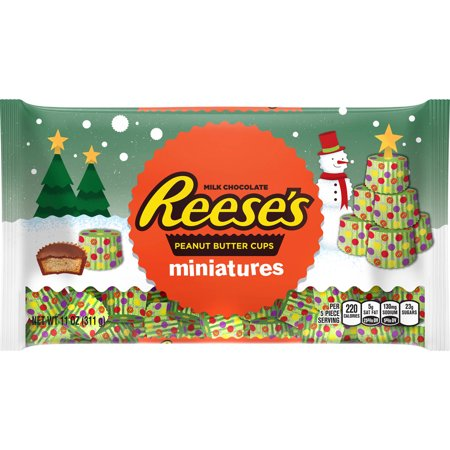 Reeses Holiday Peanut Butter Cups Miniatures Christmas Candy  11 Oz