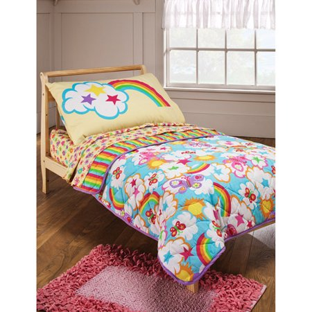 Crayola - Rainbow Delight 4-Piece Toddler Bedding Set - Walmart.com : toddler quilt set - Adamdwight.com