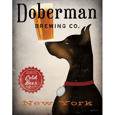 Doberman Brewing Company NY Poster Print by Ryan Fowler ()