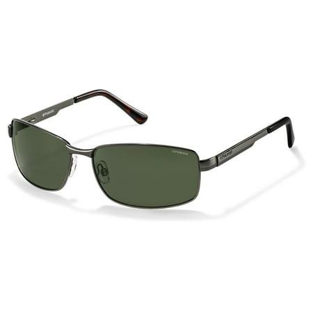 P4416/S 0A3X RC Gunmetal 63mm Polaroid P4416/S Rectangle Man Polarized Sunglasses