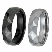AAB Style RTS-30T Gorgeous Geometric Tungsten Ring - Gold  Tungsten and Black PVD