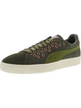 cf1dc8cce8aae8 Product Image Puma Women s Suede Xl Lace Vr Olive Night - Avocado  Ankle-High Leather Fashion Sneaker