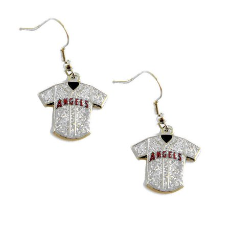 MLB Glitter Jersey Earrings Dangle Charm Team Logo PICK YOUR TEAM w/Gift - Giants Earrings
