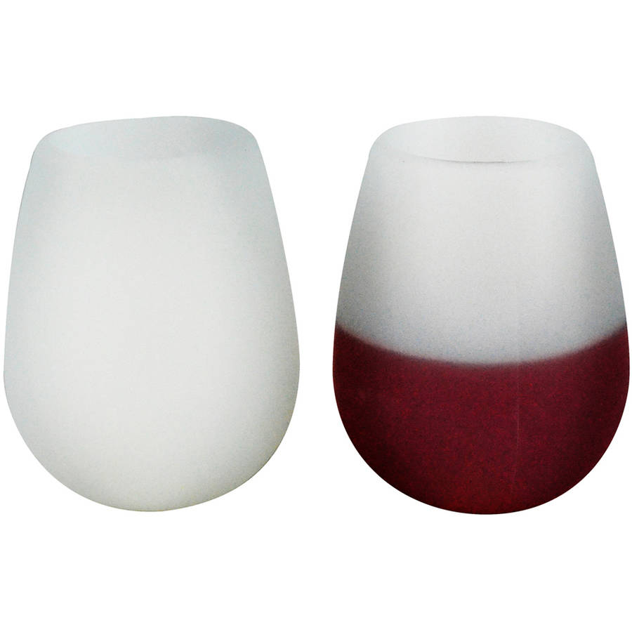 Southern Homewares Silicone Wine Glasses, Set of 2