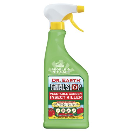Dr. Earth Organic & Natural Final Stop Vegetable Garden Insect Killer, 24 oz RTU