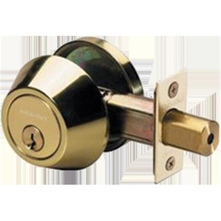 Master Lock Door Lock DSO0603 Single Cylinder Deadbolt, Polished Brass Brass Polo Double Cylinder