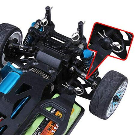 100PCS RC Model Bent Body Clips Springy R Pins For 1//16 1//18 1//24 1//28 Car Parts