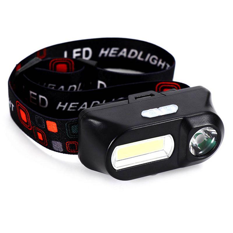 6 Modes USB Rechargeable Headlight COB LED Headlamp Head Light Torch Flashlight