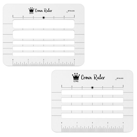 Jot & Mark Crown Ruler Envelope Stencil - Includes 2 Templates - Fits All Sizes - Perfect for Hand Addressed Envelopes, Invitations, and Place Cards Invitation Envelope Size