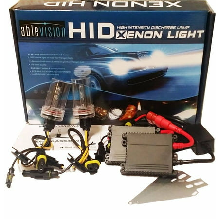 Ablevision 55w Hid Xenon Kit Headlights Slim Ballast Single Beam and Bi-xenon Options H1 H3 H4 H7 H8 H9 H10 H11 H13 Hb3 9004 9005 9006 9007 880 Color: 4300K 6000K 8000K 10000K