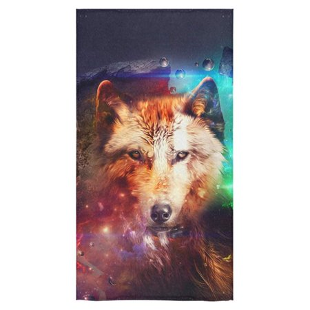 POP Wolf Bath Towels Beach Bathroom Body Shower Towel 30x56 inch Home Outdoor Travel Use - image 4 of 4