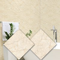 2PCS Wall Tile Stickers Waterproof Peel and Stick Stickers Movable Wall Decoration for Kitchen Bathroom 30*30CM