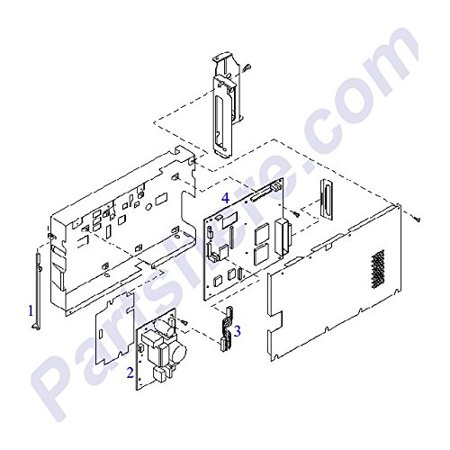 HP C5300-60100 OEM - Main Logic Board - Mounts on Rear of Main Chassis (Rear Main Chassis)