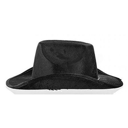 1 X Black Velour Cowboy Hat