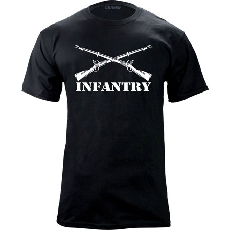 Army Infantry Branch Insignia Military Veteran T-Shirt Army Shoulder Sleeve Insignia