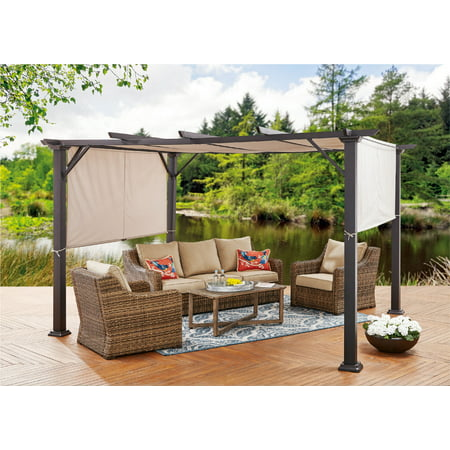 bhg steel pergola. Black Bedroom Furniture Sets. Home Design Ideas