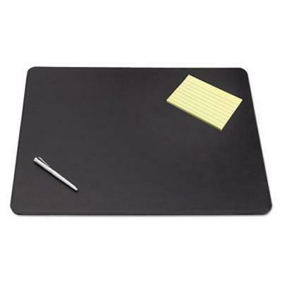 Artistic Designer Desk Pad w/Decorative Stitching, 38 x 24,