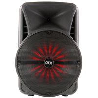 QFX 15 inch Portable Bluetooth Party LED Lights Loudspeaker with Microphone - BF2015