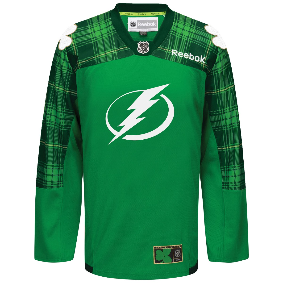 "Tampa Bay Lightning Reebok NHL ""St. Patrick's Day Men's Official Practice Jersey"