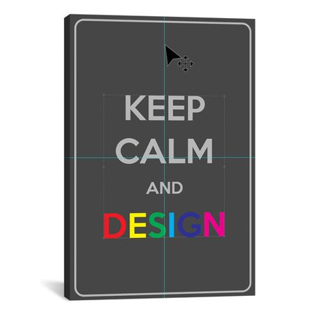 iCanvas Keep Calm and Design Textual Art on Canvas