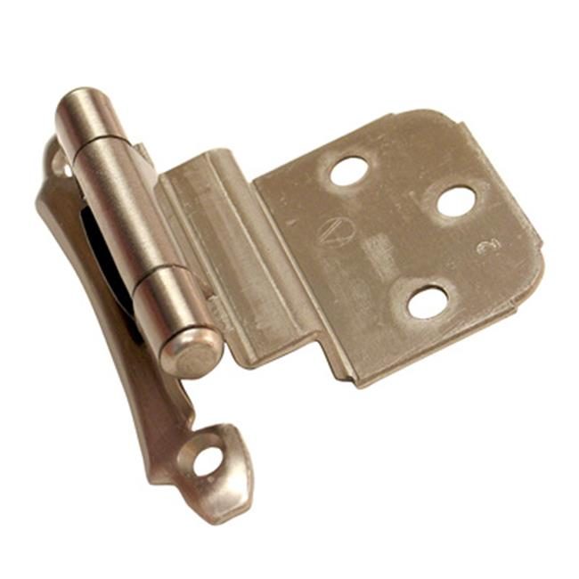 A07928 G10 Amerock Decorative 0.38 in. Inset Self Closing Cabinet Door Hinge, Satin Chrome
