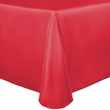 Ultimate Textile Bridal Satin 60 x 120-Inch Oval Tablecloth