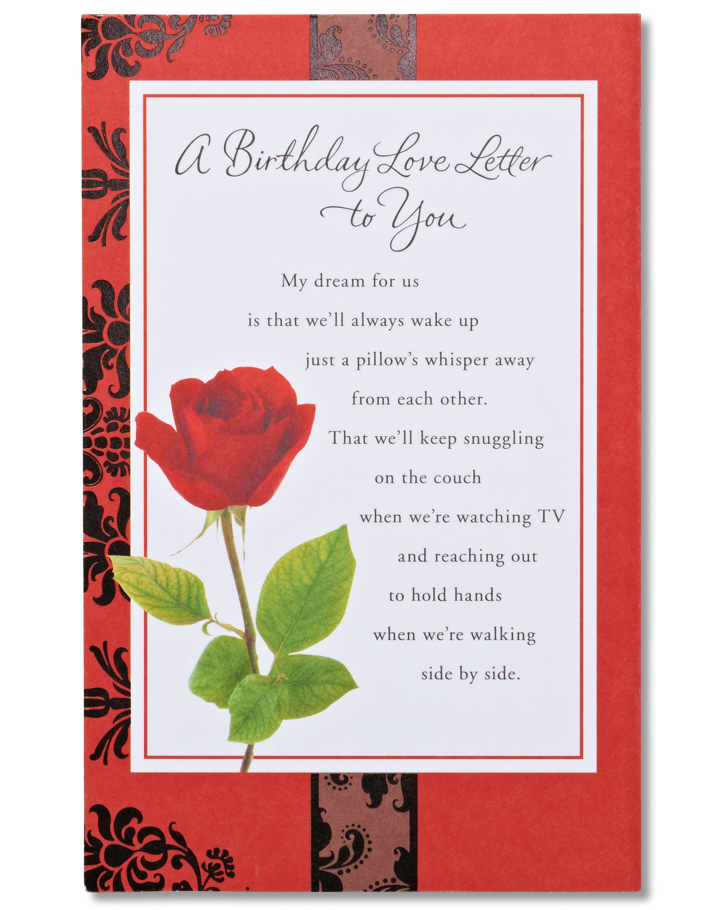 American Greetings Love Letter Birthday Card For Sweetheart