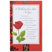 Greeting cards american greetings love letter birthday card for sweetheart m4hsunfo