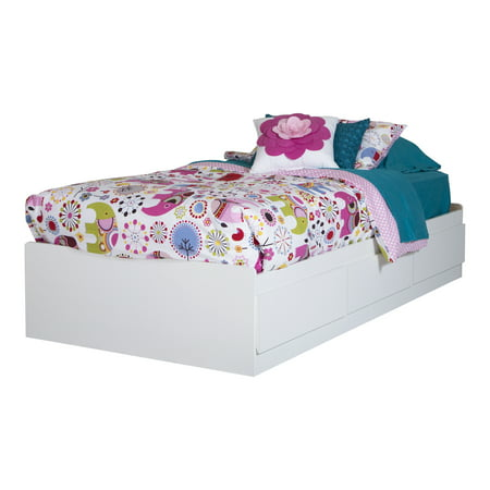 South Shore Logik 39'' Twin Mates Bed with 3 Drawers, (Logik Twin Mates)