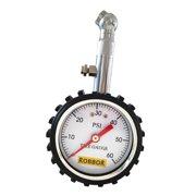 Tire Pressure Gauge Robbor Tire Gauge Air Pressure Gauge, Heavy Duty Car & Motorcycle - 60 PSI