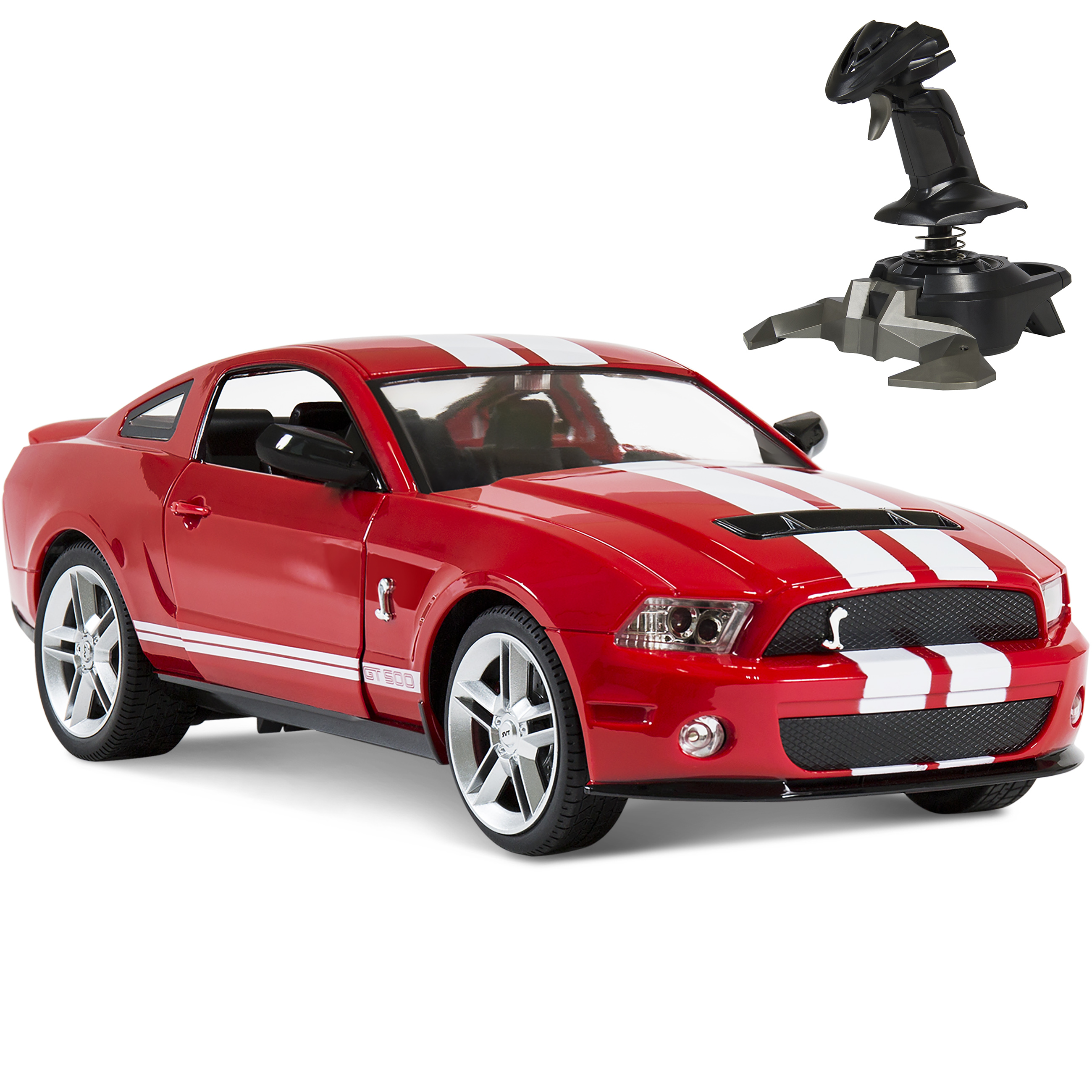 BCP 1/14 RC Ford Mustang Shelby GT500 Gravity Sensor Remote Control Car - Red