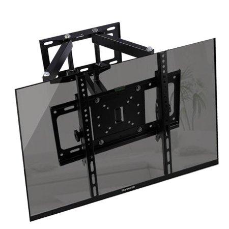 zerone 26 55 inch universal lcd tv tilt swivel pivot corner wall mount bracket fits vesa 100x100. Black Bedroom Furniture Sets. Home Design Ideas