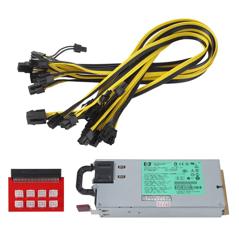 High Efficiency 1200 Watt Power Supply Kit For GPU Mining...