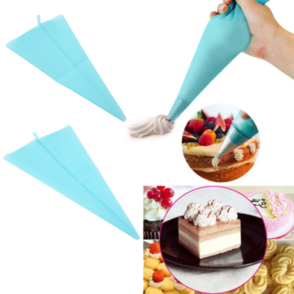 Silicone Reusable Icing Piping Cream Pastry Bag Cake Decorating Tool DIY
