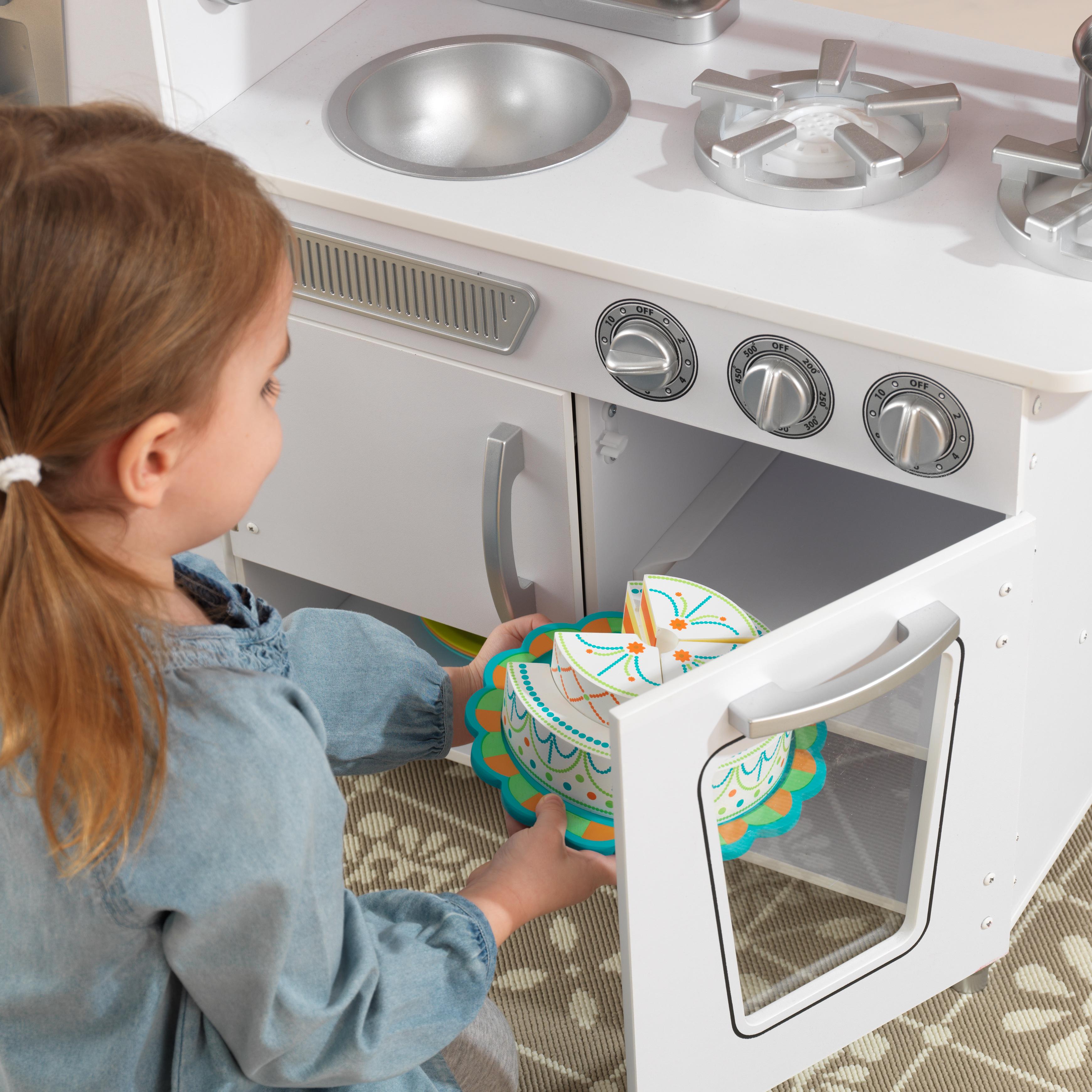 kidkraft vintage play kitchen - white - walmart