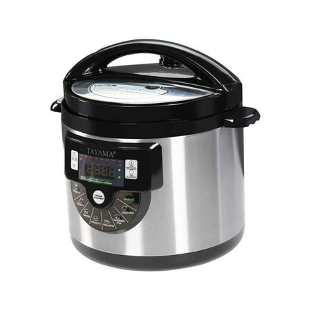 Tayama Electric Pressure Cooker with Stainless Steel Pot 6 Quart